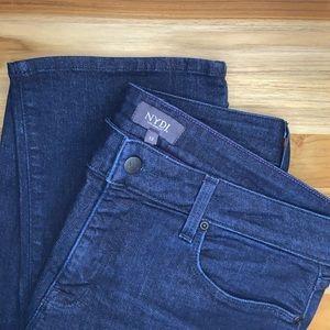 NYDJ Marilyn Straight Dark Rinse Denim Jeans Size 12 Short